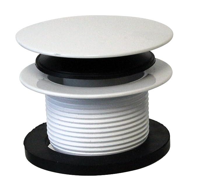 Westbrass Universal Deep Soak PVC Bath Drain, D493244CHM-50, Powder Coat White