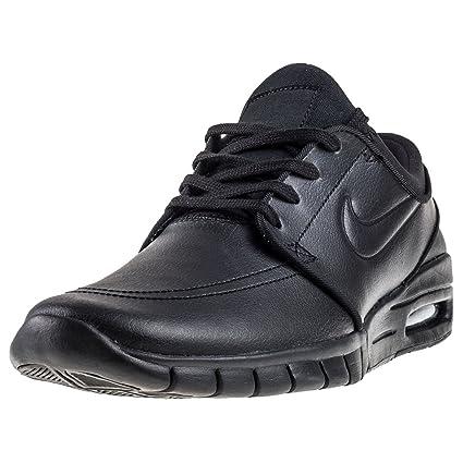 458ec015be88 Nike Unisex SB Stefan Janoski Max l Nero in Pelle Sneaker  Amazon.it  Sport  e tempo libero