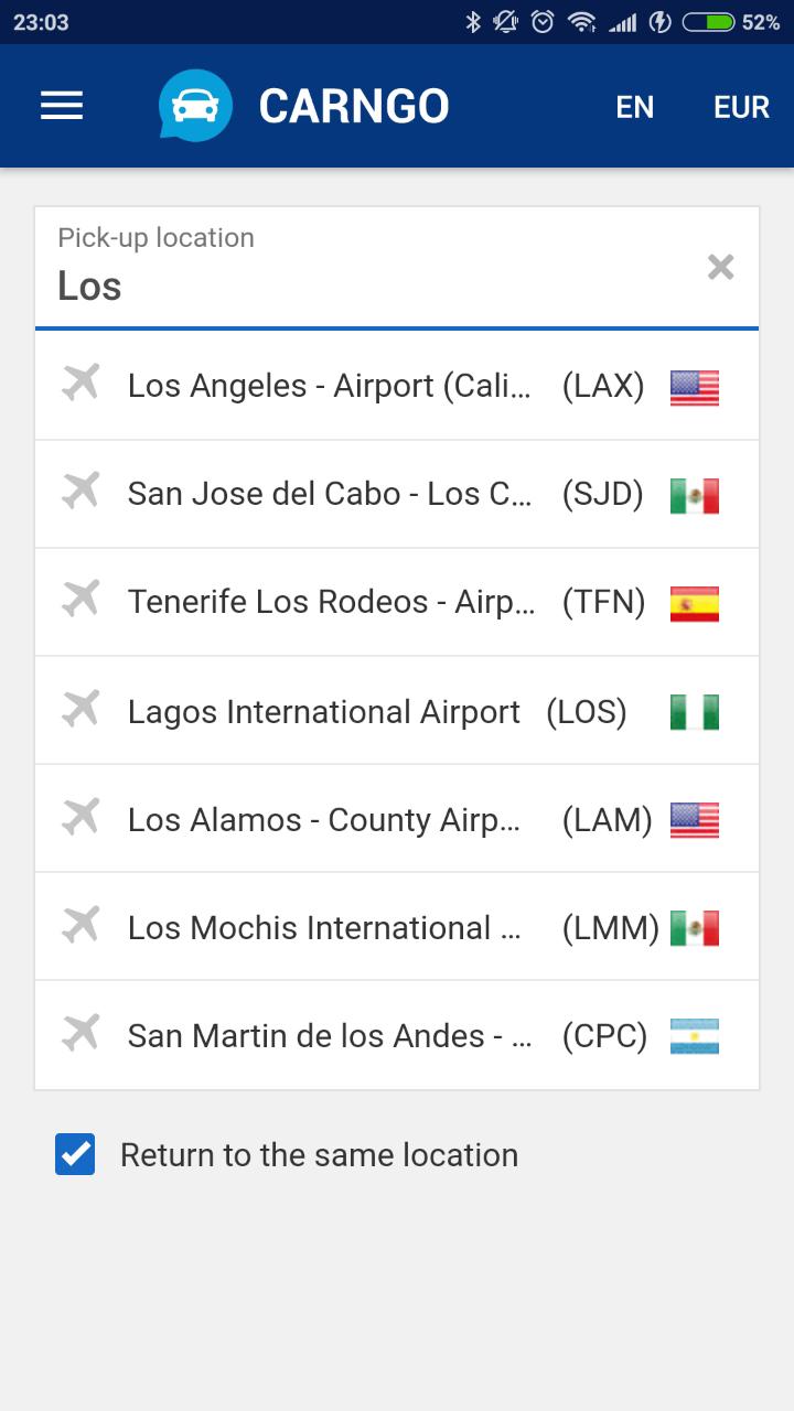 CARNGO.com - Car Rental APP: Amazon.es: Appstore para Android