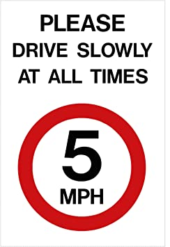 Image result for 5mph sign