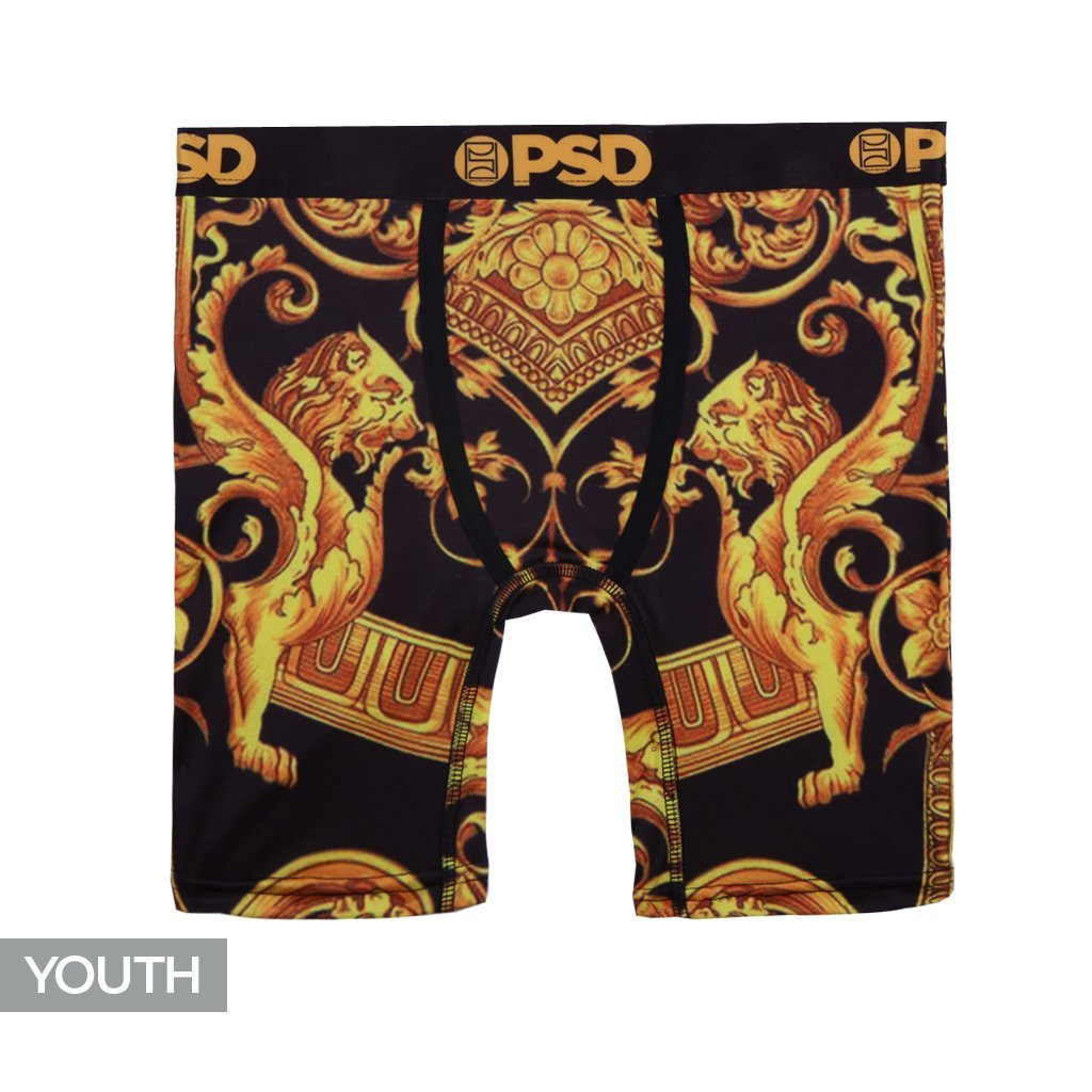 PSD Underwear Youth Youth Gold Sace Athletic Boxer Brief, Gold Y1182046-P
