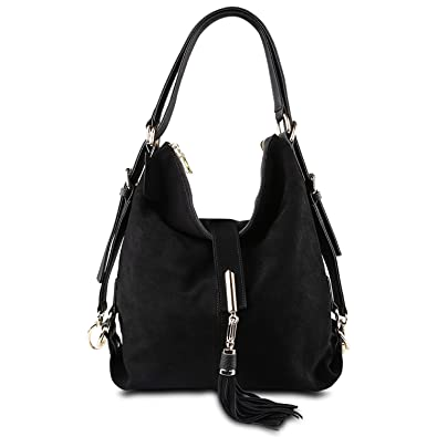 Amazon.com  Women Real Leather Shoulder Bag Female Leisure Nubuck Casual Handbag  Hobo Messenger Top-Handle Bags  Shoes ed997995da821