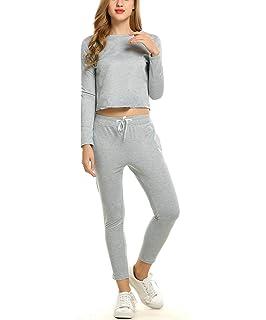 cooshional Femme Ensemble Sweat-Shirt Pantalon Jogging Survêtement 2pcs  Sportwear imprimé (Impression Selon la f606e9e40ad