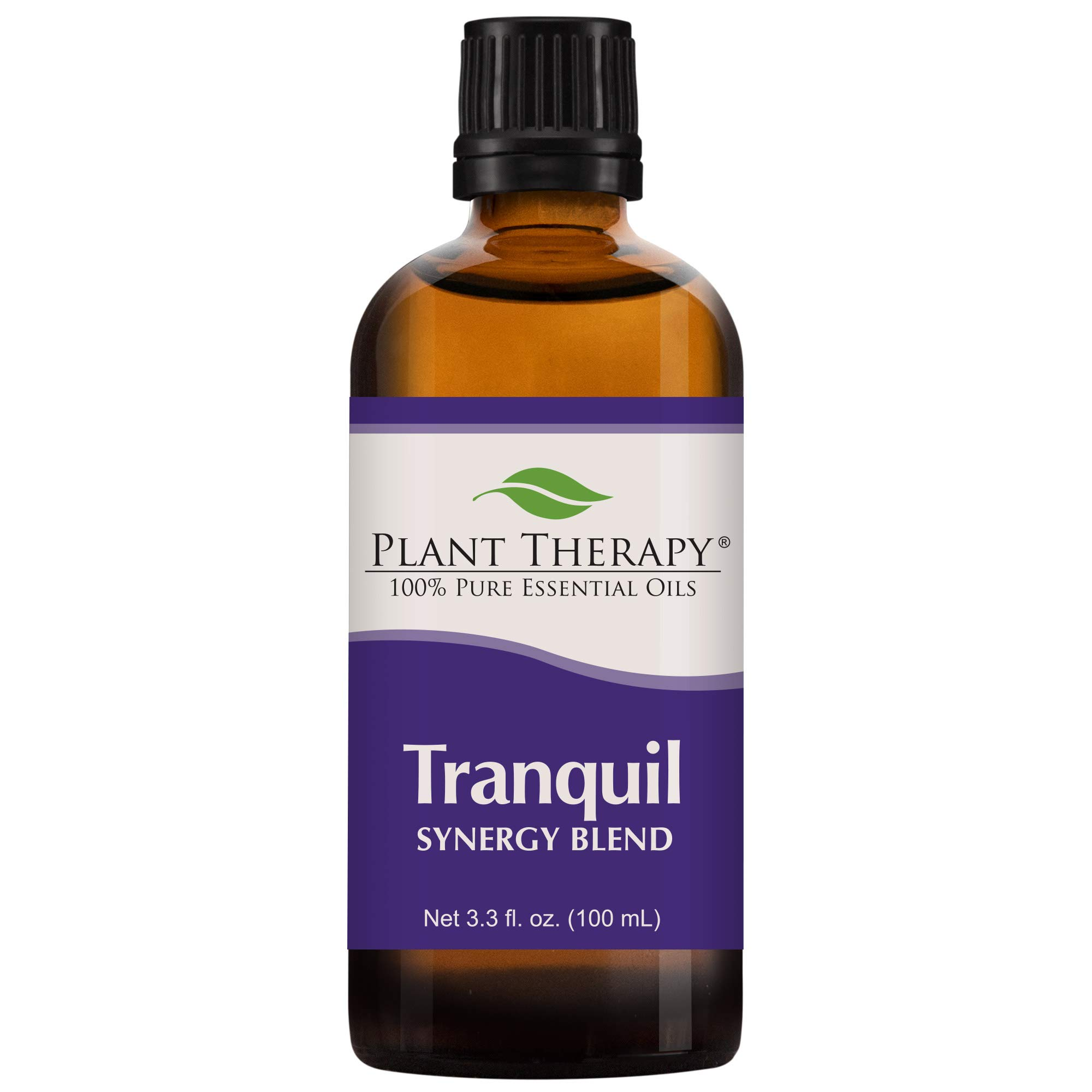 Plant Therapy Essential Oil | Tranquil Synergy Blend | Stress Relief, Sleep, Peace & Calming Blend | 100% Pure, Undiluted, Natural Aromatherapy, Therapeutic Grade | 100 milliliter (3.3 ounce)