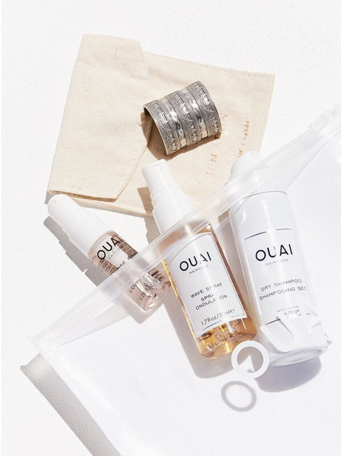 Ouai Desert OUAIsis Festival Kit: Rose Hair & Body Oil, Dry Shampoo Foam, Wave Spray, Jen Atkin x Chloe + Isabel Ponytail Piece (Limited Edition) by Ouai (Image #4)