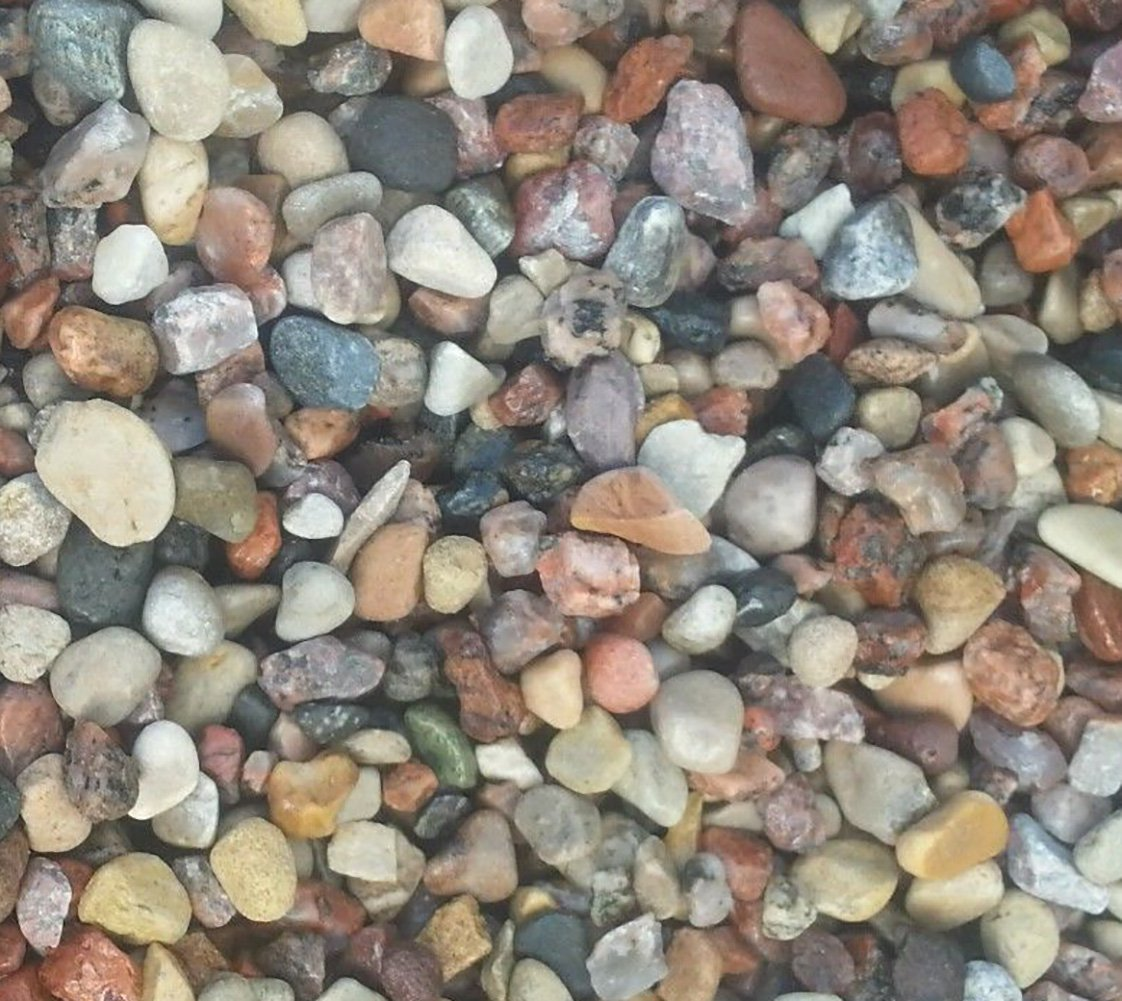 Safe & Non-Toxic {Various Sizes} 30 Pound Bag of Prewashed Gravel, Rocks & Pebbles Decor for Freshwater & Saltwater Aquarium w/ Natural Smooth River Inspired Rustic Earth Toned Style [Tan, Red & Gray] by mySimple Products