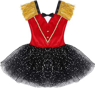 YiZYiF Disfraz Domadora Circo Niñas Vestido Tutú Danza Fiesta ...