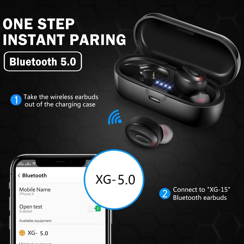 Mini Auriculares Bluetooth internos de 15 Horas para Android iOS # F41 2020 Auriculares inal/ámbricos Bluetooth con cancelaci/ón de Ruido