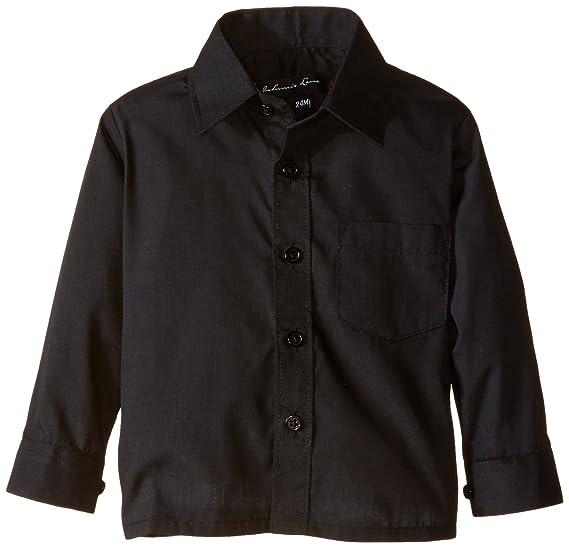Amazon Com Johnnie Lene Boy S Long Sleeves Solid Dress Shirt Jl32