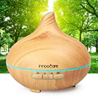 Aroma Diffuser 300ml InnooCare Luftbefeuchter Öl Ultraschall Düfte Humidifier Holzmaserung LED mit 7 Farben