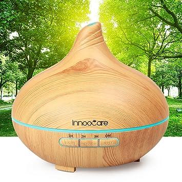 Amazon.com: 300ml Essential Oil Diffuser Wood Grain with Skid ...