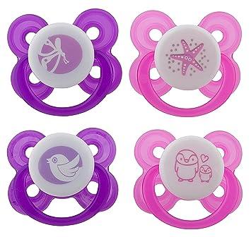 Amazon.com: Avima - Chupetes para bebé (4 unidades, con 2 ...