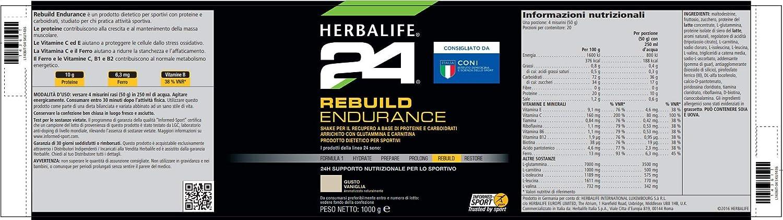 Herbalife Rebuild Endurance Protein Drink - Vanilla flavour