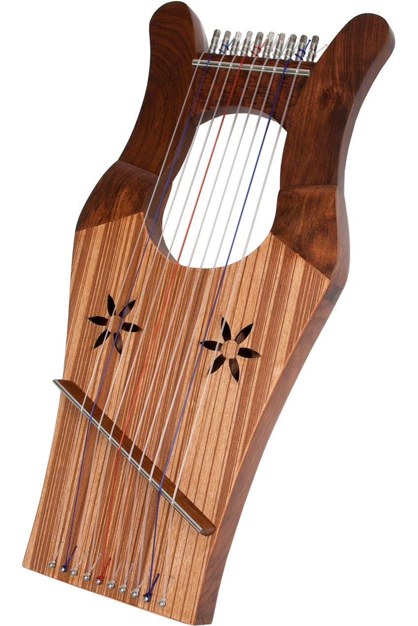Mid-East Mini Kinnor Harp - Walnut