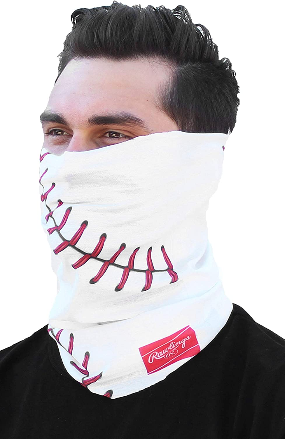 Rawlings Multi-Functional Face, Neck and Head Gaiter - White Baseball Stitched : Sports & Outdoors