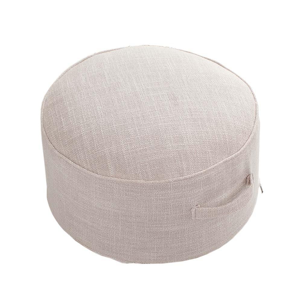 ヨガ瞑想畳床枕シートクッションZafu足スツール、オフホワイト   B078N4KPPD