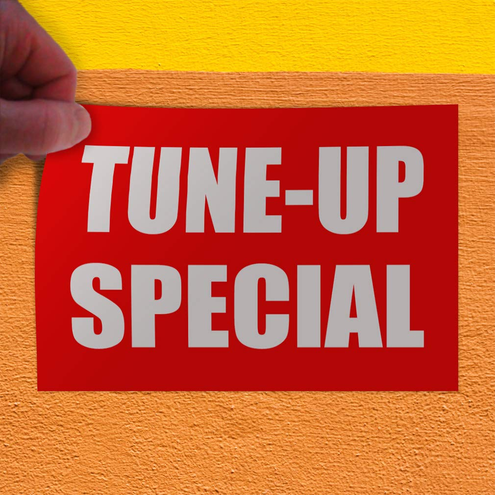 30inx20in Decal Sticker Multiple Sizes Tune-Up Special Business Automotive Tune Up Outdoor Store Sign Red Set of 5