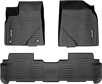 CFMAX1TT7735 Coverking Custom Fit Front Floor Mats for Select Toyota Highlander Models Black Nylon Carpet