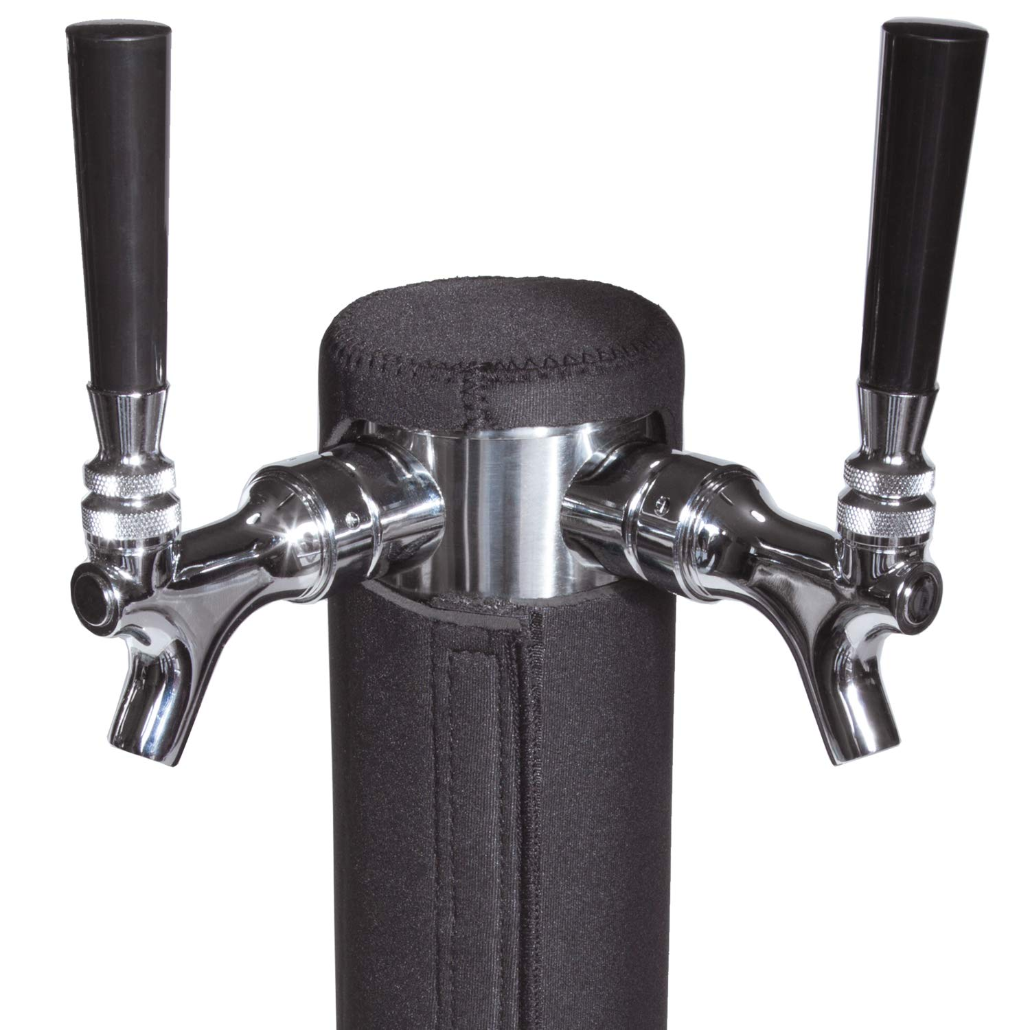 Kegerator Tower Cooler for Beer Tower - Neoprene Design - Perfect Fit for Kegerator Tap Tower - Easy to Use Beer Tower Cooler Accessory (3.0'' Diameter Beer Tower)