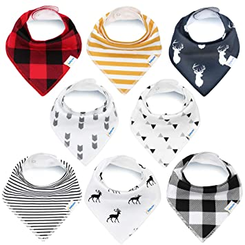 Amazon.com  KiddyStar Bandana Baby Bib Set 24a3118ce708