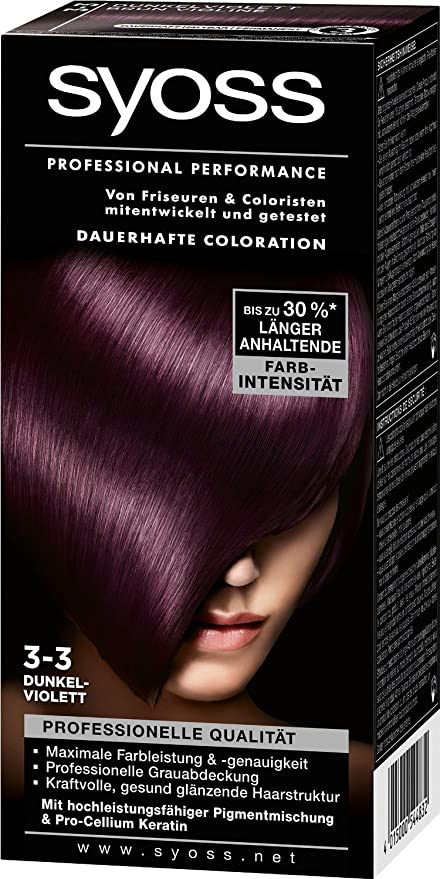 syoss Professional Performance coloration Violeta Oscuro, 3 ...