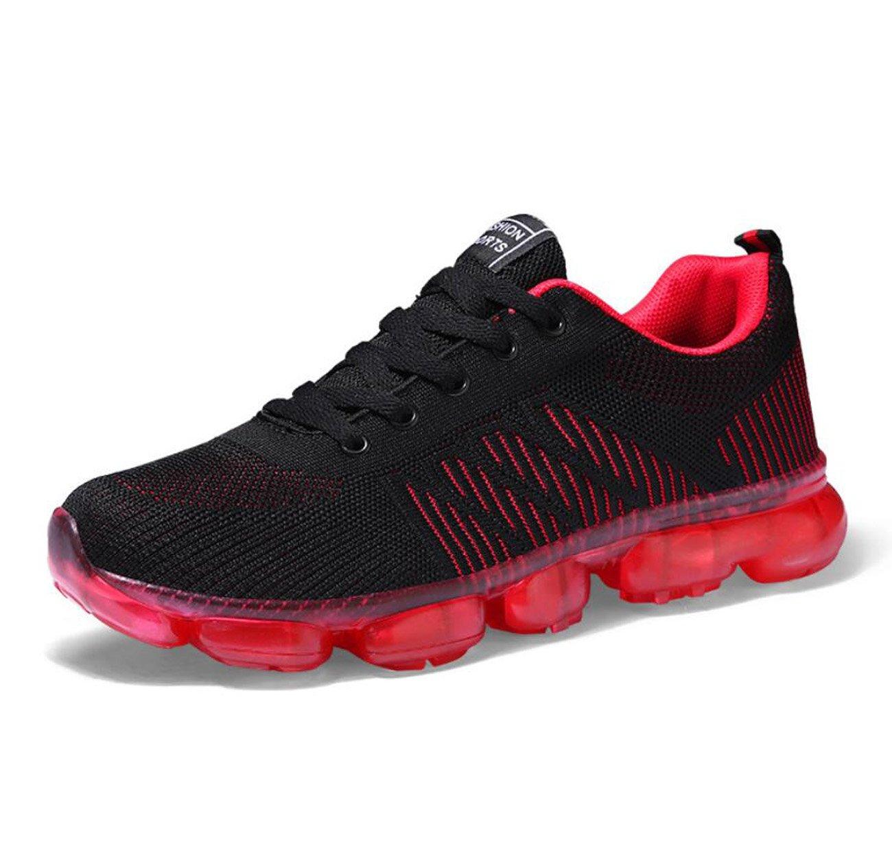 Zapatillas de running para hombre Spring Light Transpirable completo Palm Cushion Shock Absorber Running Shoes Korean Wild Sports Shoes ( Color : Rojo , tamaño : 44 ) 44 Rojo