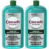 Cascade Rinse Aid Platinum, Dishwasher Rinse Agent, Regular Scent, 30.5 oz (2 Pack (30.5 oz))