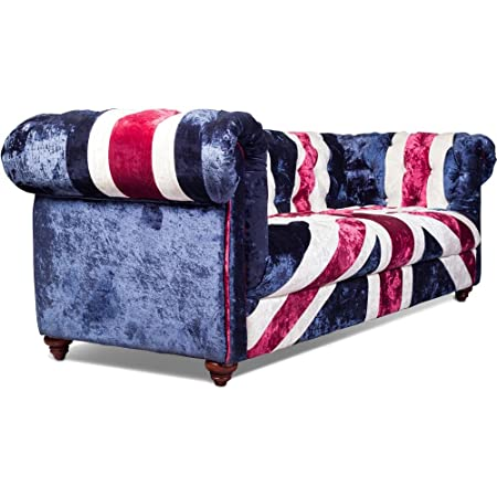 Union Jack Chesterfield Sofa Velvet Several Colors Amazon Co Uk
