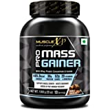 MuscleXP Pro Mass Gainer - With Whey Protein, Isolate, 25 Vitamins & Minerals, Double Chocolate, 1kg (2.2 lb)