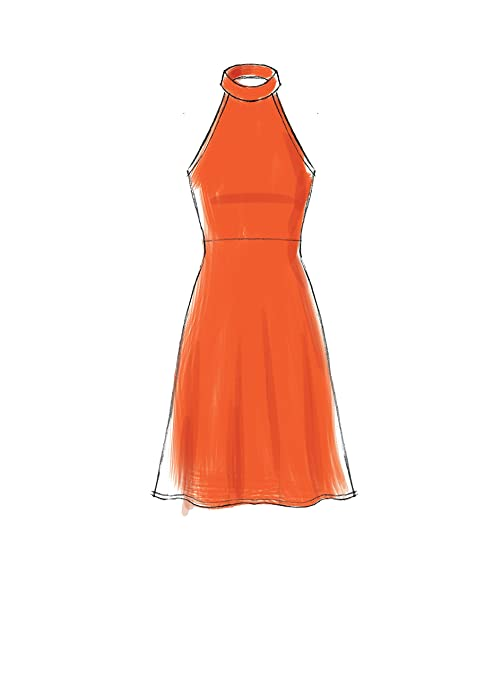 Amazon.com: Butterick M7593-A50 Misses Sleeveless Pullover Dresses with Neckline, A-6-8-10-12-14