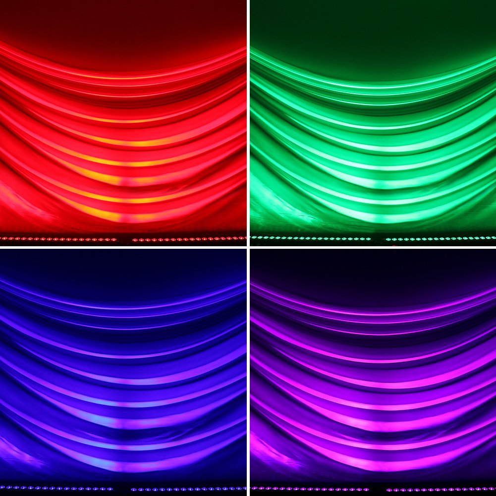 Stage Lights, OPPSK 72W 24LED Wash Lights Bar DMX Control Auto Play Sound Activated with RGB Tricolors for Wedding Birthday Christmas New Year Party DJ Stage Lighting by OPPSK (Image #4)