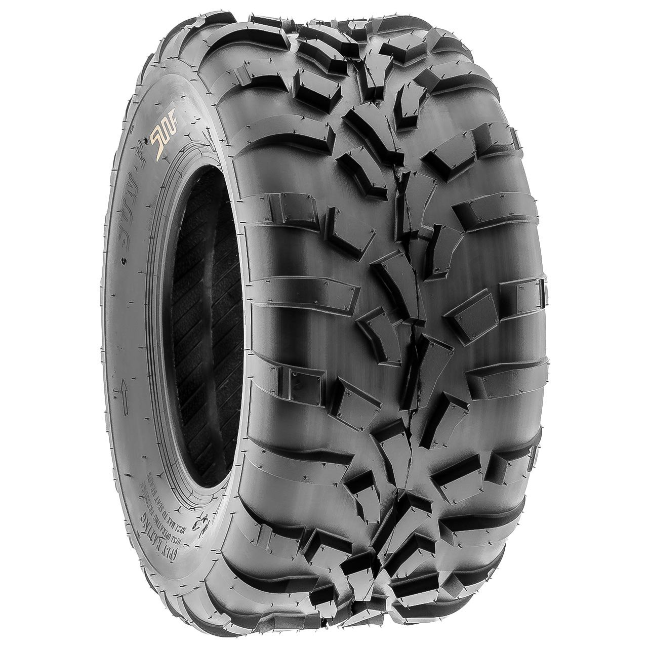 Pair of 2 SunF 25x11-12 AT-XC ATV/UTV Off-Road Tires , 6PR , Directional Knobby Tread | A010 by SunF (Image #6)