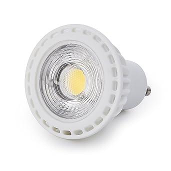pysical 10 unidades 7 W GU10 COB bombilla LED, 600 lúmenes, equivalente a 70
