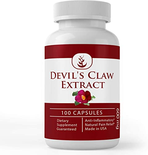 Devil s Claw Root Extract, Non-GMO, Gluten-Free, Lab-Tested for Purity, Potent, Made in The USA, No Stearates or Rice Fillers, Satisfaction Guaranteed 600 mg