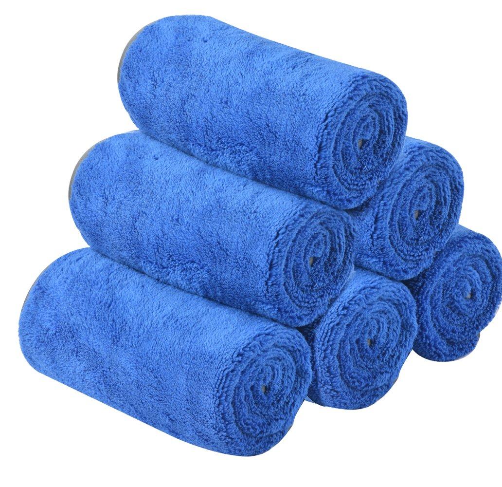 KinHwa Microfibre Car wash Towels Super Absorbent Car cleaning Cloths Ultra Soft Car drying Towels 380gsm 40cmx60cm 3 pack Dark Grey