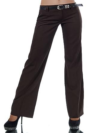 Vielzahl von Designs und Farben gutes Geschäft Großhandel Damen Bootcut Stretch Hose 4159 mit Gürtel in versch. Farben