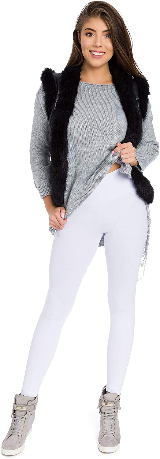 SOFTSAIL Womens Thick Winter Leggings High Waisted Warm Slimming Pants with Shaping Panel P28