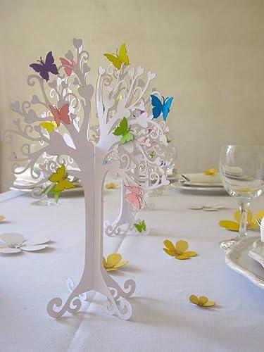 Kommunion Herzbaum Tischdeko Mit Bunten Schmetterlingen Hohe