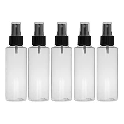 Set de 5 unidades: spray de 100 ml botella de PET, transparente con vaporizador