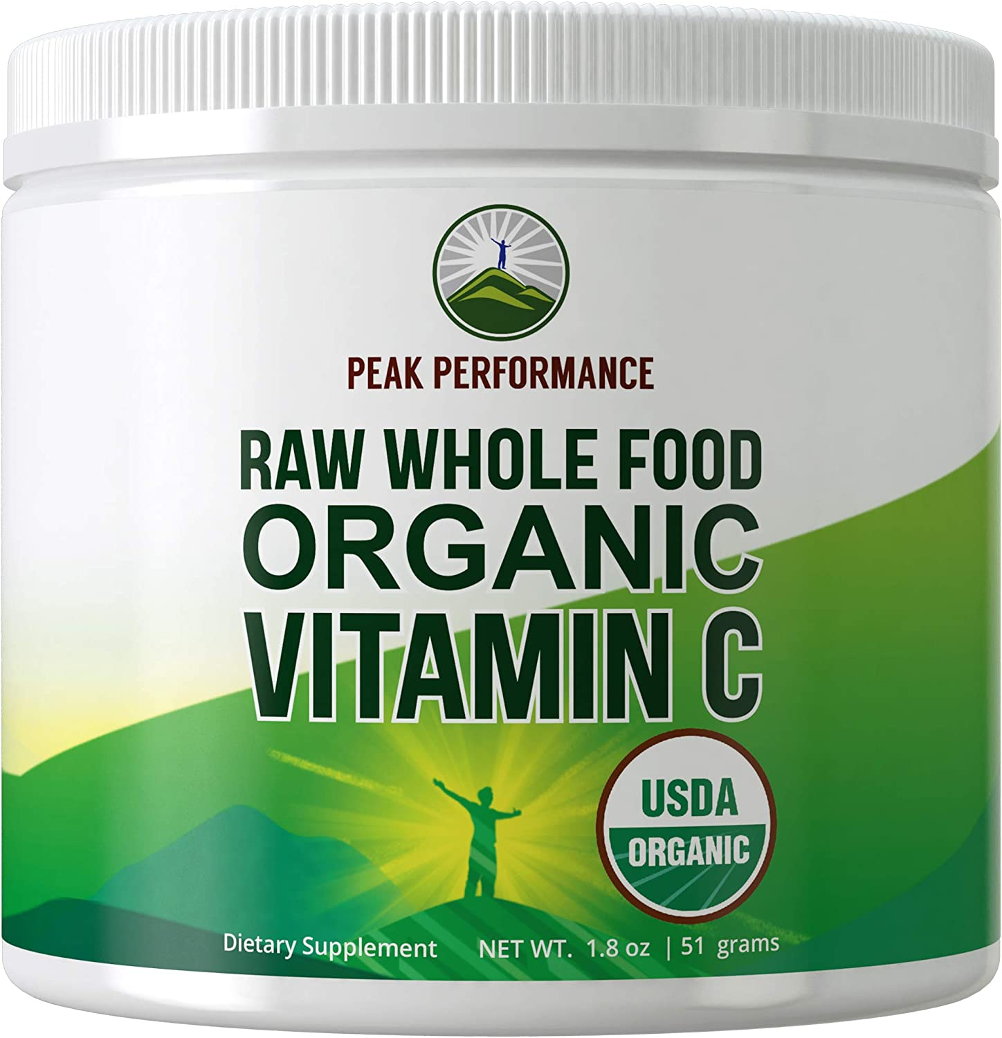 Organic Vitamin C Powder from Raw Whole Food Organic Acerola Cherry. Organic Vegan Supplement for Immune Support. Max Absorption, No Artificial Sweeteners