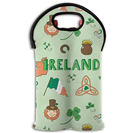 a4d00d9d57c5 Amazon.com: Wine Carrier Tote Bag Two Bottle Insulated Wine/Water ...