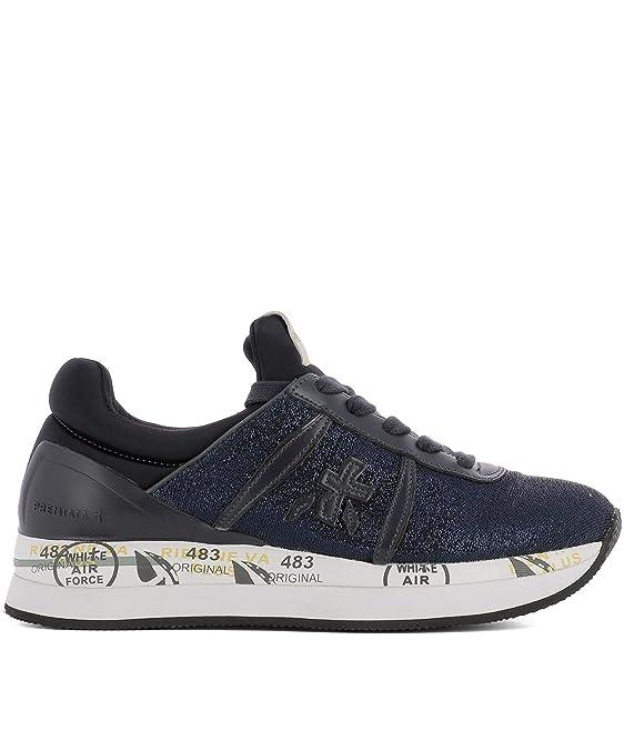 PREMIATA Sneakers Donna Liz3002 Pelle Blu Venta Mejor AoLE3bYJ