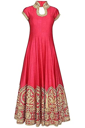 A.K.ENTERPRISE Women\'s Premium Banglori Silk Heavy Embroidered Semi ...