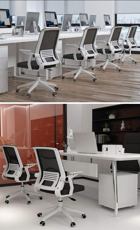 Skrivbordsstolar kontorsstol datorstol hem kontor stol svängbar stol personalstol konferensstol sovsal stol rosett säte kontor (färg: Röd) Röd