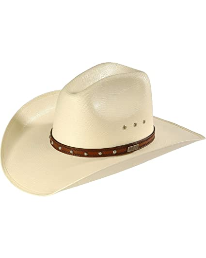 8a0c92fe77d01 Larry Mahan Mens Browning 10x Straw Cowboy Hat Ivory 6 34 At