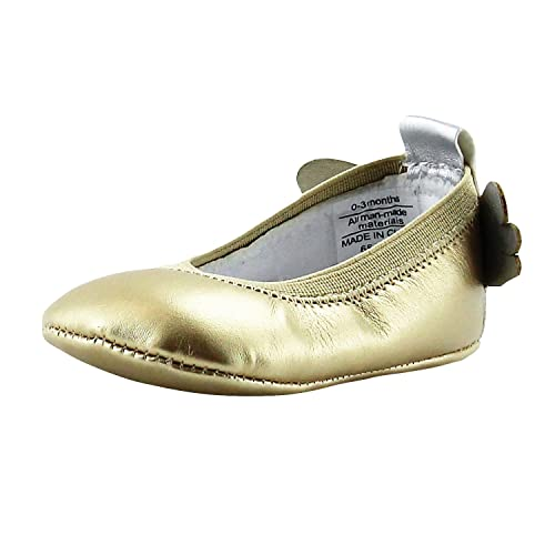 762480bca966 Rosie Pope Angel Wings Baby Girls Ballet Flats 3-6 Months Infant Crib Shoes  Baby