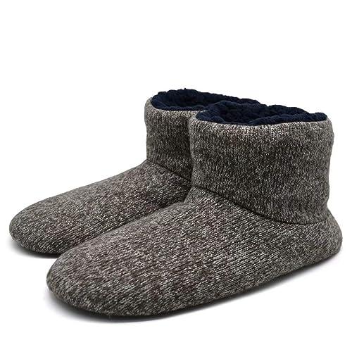 KuaiLu Botas/Botines De Resbalón para Interiores De Lana De Punto Calzado Sin Cordones Suela De Goma: Amazon.es: Zapatos y complementos