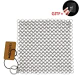 """Cast Iron Cleaner 6"""" x 6.3"""" Premium 316L Stainless Steel Chainmail Scrubber for Skillet, Wok, Pot, Pan; Pre-Seasoned Pan…"""