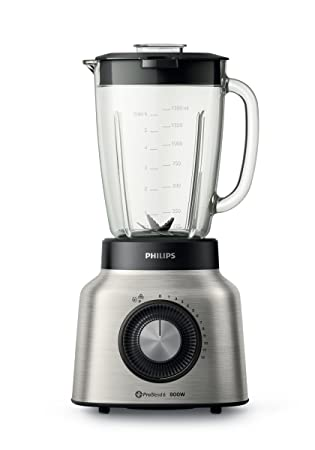 Philips Viva Collection HR2139/80 - Licuadora (2 L, Giratorio, Batidora de vaso, Negro, Acero inoxidable, Transparente, China, Metal): Amazon.es: Hogar