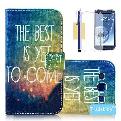 Amazon.com: Galaxy S3 caso, S3 caso, S3 funda con tapa ...